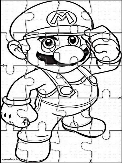 printable jigsaw puzzles to colour printable jigsaw puzzles to cut out for kids mario bros 1