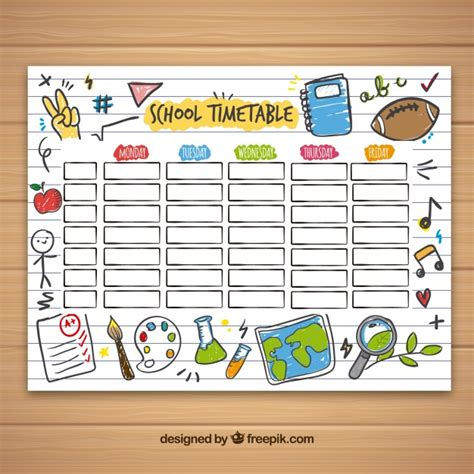 timetable template timetable vectors photos and psd files free