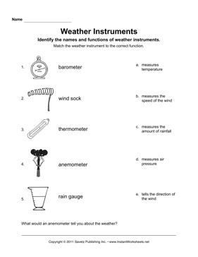 weather instruments teaching tools weather instruments