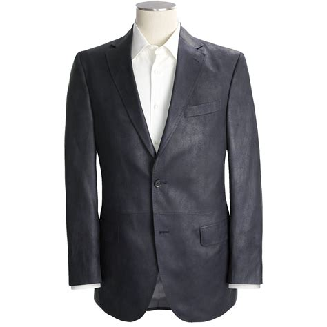 leather sport coat victor grained synthetic leather sport coat for