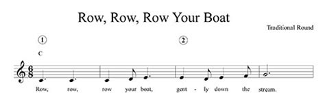 row your boat guitar chords row row row your boat lyrics chords and lead sheet