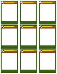 soccer trading card template free soccer card templates free blank printable customize