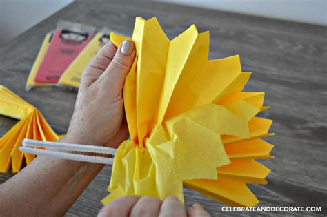 how to make tissue paper pom poms celebrate decorate