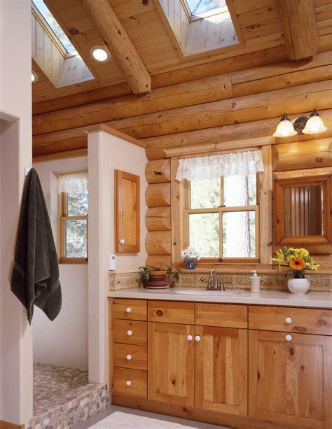 Log home bathrooms 171 real log style