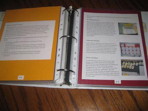 teacher binder sections professional portfolios shelley gray school