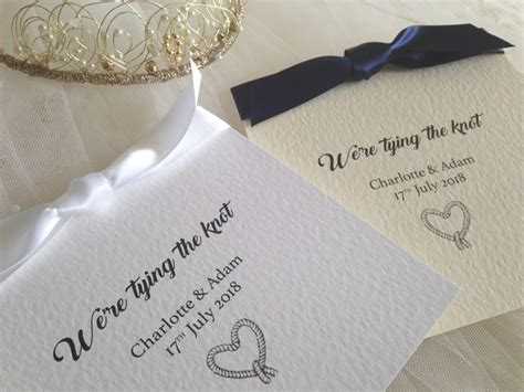 tying ribbon for wedding invitations tying the knot wedding invitations 163 1 25 each