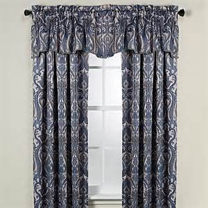 95 Blackout Curtains Caldwell Rod Pocket Blackout 95 Inch Window Curtain Panel In Blue Bedbathandbeyond