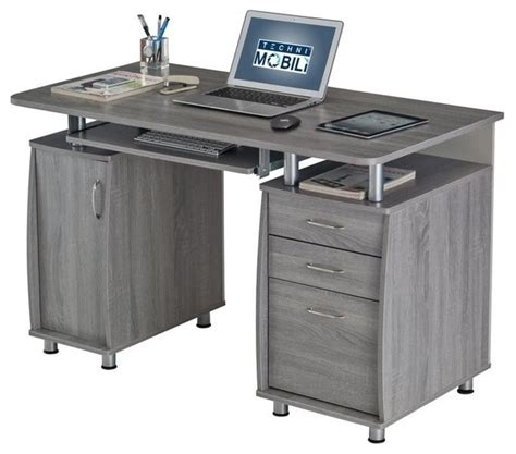 From My Grey Desk workstation gray contemporary desks and hutches by homesquare