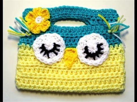 crochet pattern child purse crochet owl childs purse video 1 youtube