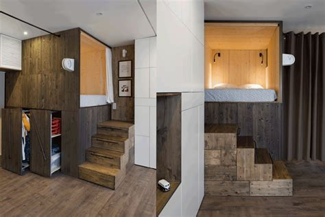35 square meters cleverly designed bed makes this tiny home feel bigger