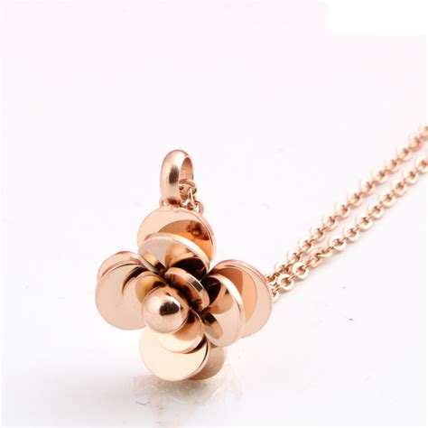 Kalung Fashion Rosegold 1 fashion gold color stainless steel s necklace camellia necklace flower choker