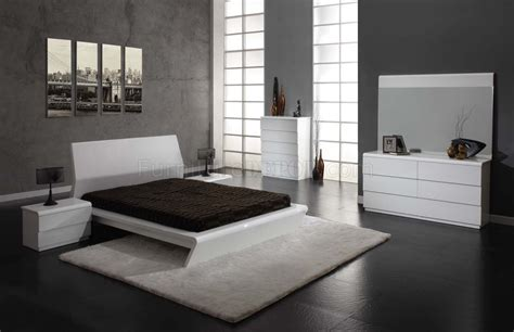 white high gloss finish modern bedroom woptions