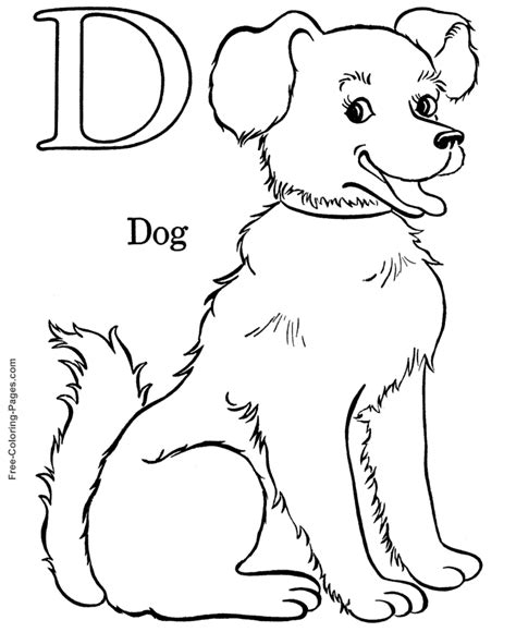 Alphabet Coloring Pages D Is For Dog Free Alphabet Coloring Pages