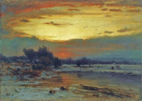 Landscape Artist George Crossword 19c American Winter In 19c America Tones Of Snow