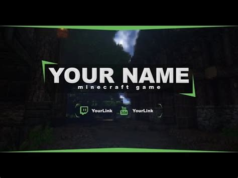 Free Twitch Banner Minecraft Template 5 Photoshop Twitch Header Template