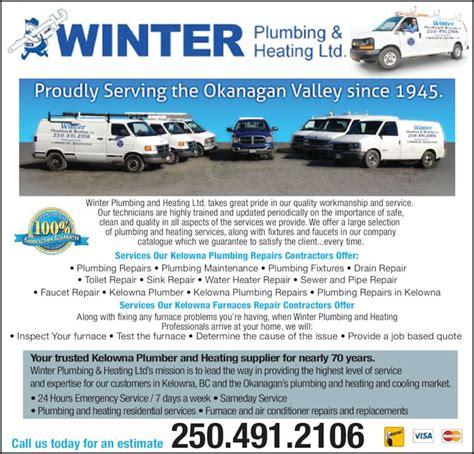 Winter Plumbing And Heating Kelowna by Winter Plumbing Heating Ltd Opening Hours 5261 Whelan Rd Kelowna Bc