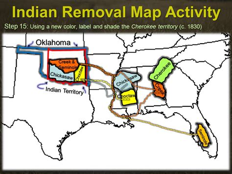 american movement 1830 map answers indian removal map activity ppt