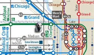 Chicago L Map Blue Line by Cta Blue Line Route For Pinterest