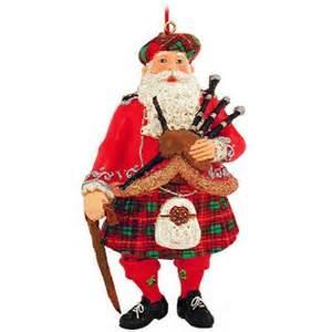 scottish santa resin ornament bronner s christmas wonderland