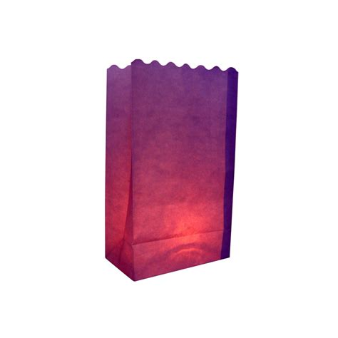 purple solid color luminarias paper craft bag 10 pack