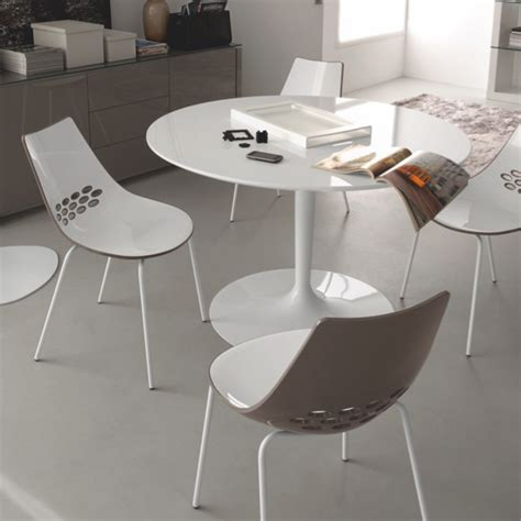 Calligaris Jam Dining Chair Calligaris Jam Glossy Optic White Glossy Taupe Dining Chair Set Of 2