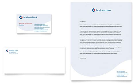 Bank Letterhead Paper Banking Letterhead Templates Financial Services