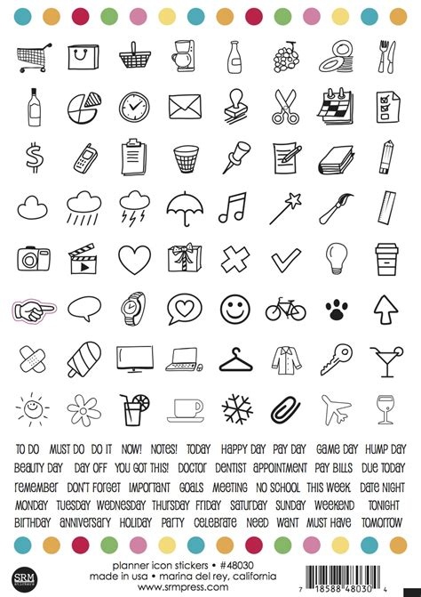 to do stickers srm stickers day 1 new product introductions planner