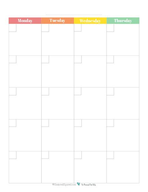 printable calendar 2014 monday start blank 2 page per month calendar rainbowpg1 monday start