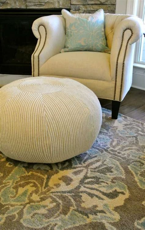 homemade pouf ottoman pouf envy and what i did about it quot diy home decor ideas