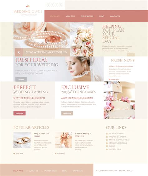 9 Of The Best Wedding Joomla Templates Down Joomla Wedding Template