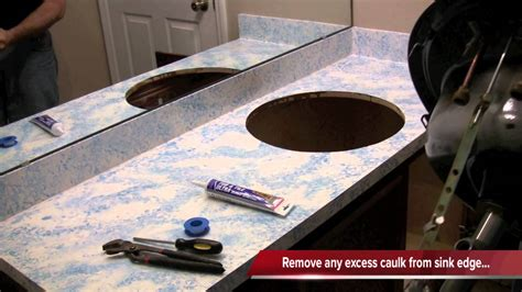 how to replace a kitchen sink how to install a bathroom sink
