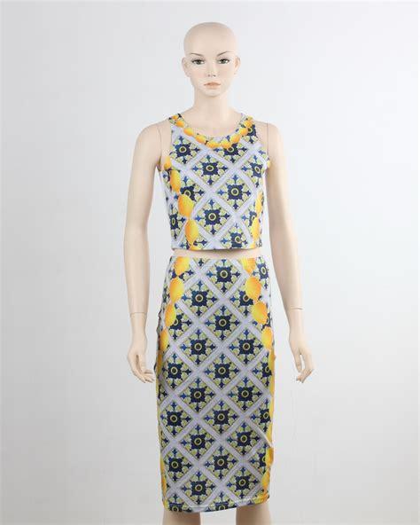 Id Print Dress oem odm supply two print dress evening dress