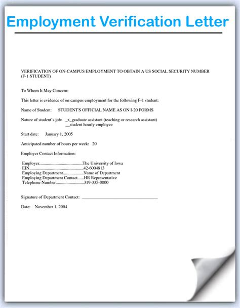 rental verification letter template free printable employment verification form hunecompany