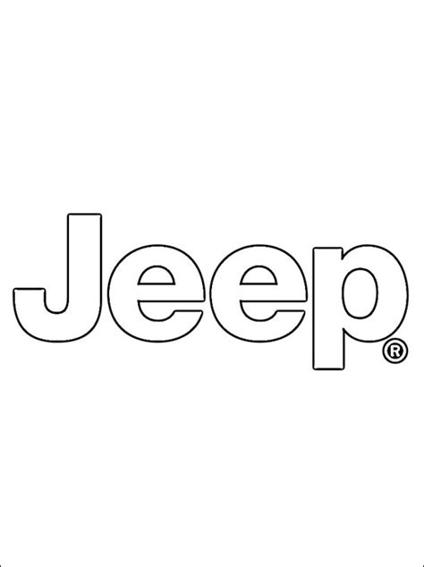 coloring pages car logos coloring page jeep logo coloring pages