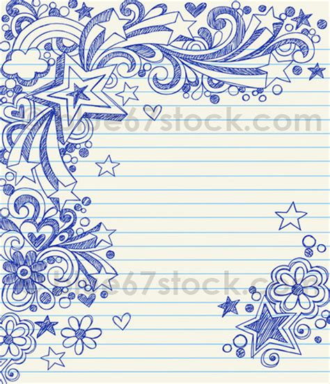 how to doodle in a notebook sketchy doodle vector illustration by