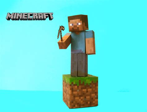 Minecraft Papercraft Models - minecraft papercraft steve by poethetortoise on deviantart