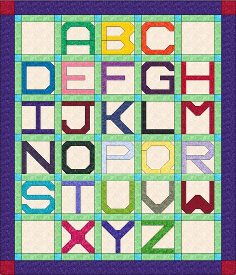 Alphabet Quilt Block Pattern pin by carole peyus on quilty stuff