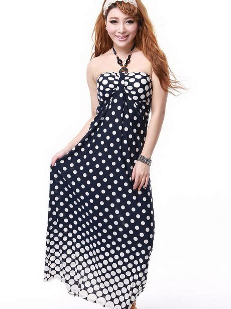 Nl Dress Polka polka dot maxi dresses