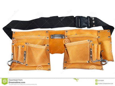 leather belt for tools royalty free stock image image