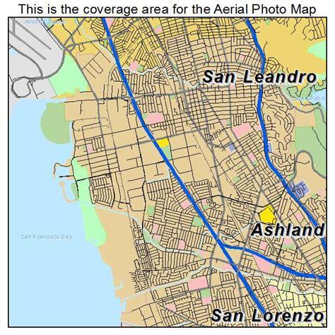 map of san leandro california aerial photography map of san leandro ca california