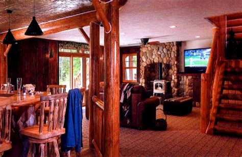 Custom Home Interior walworth county log basement log home basement