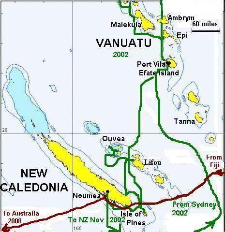 map of new caledonia and australia new caledonia vanuatu map