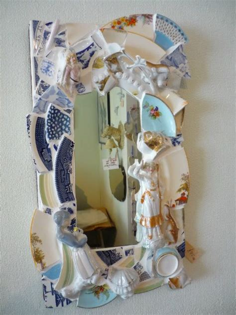 recycle broken crockery want to make a mirror out of leftover tiles from my walkway simple crafts pique