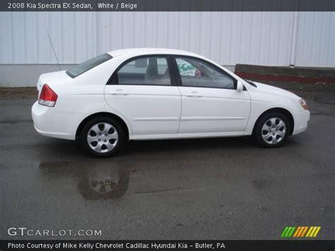 2008 Kia Spectra Ex White 2008 Kia Spectra Ex Sedan Beige Interior