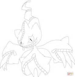 pokemon coloring pages mega camerupt mega banette coloring page free printable coloring pages