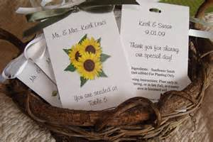 Sunflower Seeds Wedding Favors by Sunflower Trio Flower Place Cards Printed With Guest