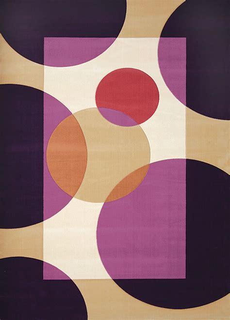 agréable Meubles De Salon Contemporain #7: tapis-design-violet-pas-cher.jpg