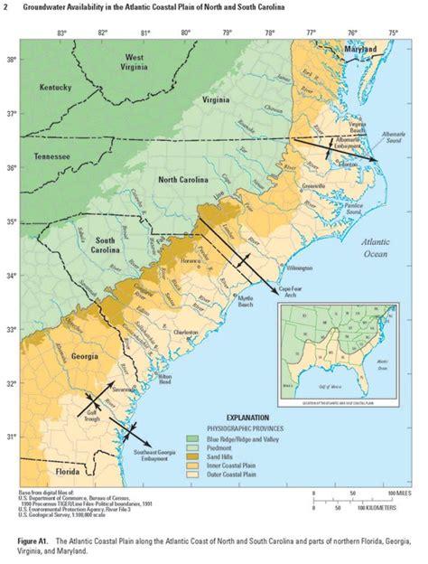 map of south carolina coast acc carolina map images