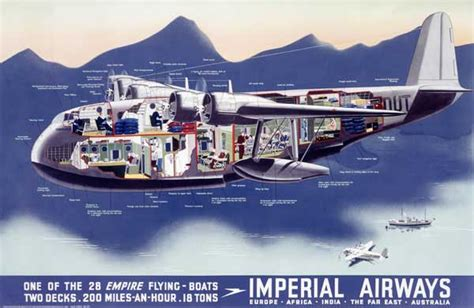 flying boat poster what international air travel was like in the 1930s