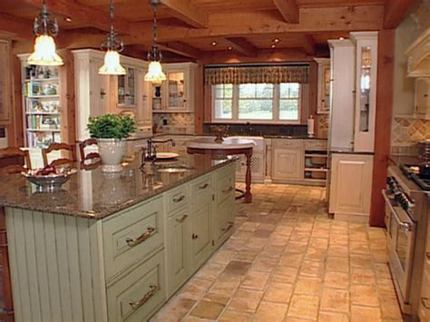 Farmhouse Kitchen Layout | natural materials create farmhouse kitchen design hgtv